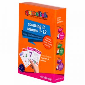 משחק רביעיות באנגלית ללימוד מספרים וצבעים למתחילים