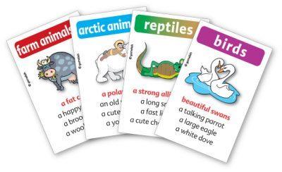 מדברים על חיות הוא משחק רביעיות ללימוד אנגלית והעשרת אוצר מילים באנגלית לכיתות ה-ט