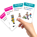 משחק קלפים ללימוד ותרגול הפועל to be.המשחק בנוי מזוגות של שאלות ותשובות בזמני הווה ועבר.