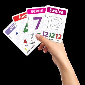 מספרים ראשונים 1-12 וצבעים באנגלית