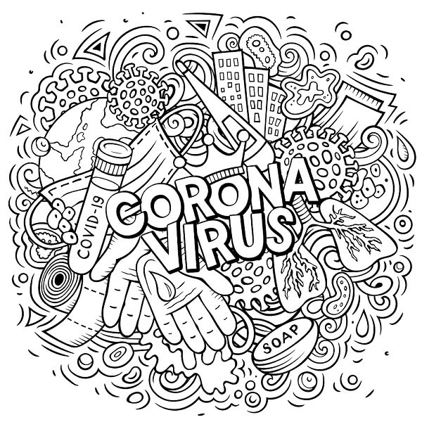 corona colouring page